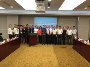 Nach Matchmaking und Austausch: die deutsche Delegation zusammen mit chinesischen Gesprächspartnern in Shijiazhuang.