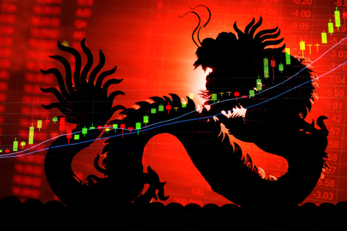 China stock market graph ticker