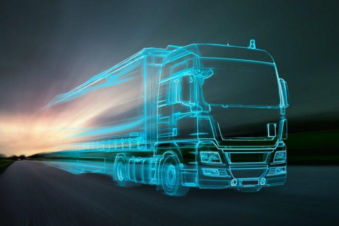 Truck aus Lichtern