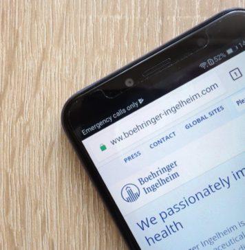Boehringer Ingelheim Webseite auf Smartphone