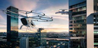 Geely nimmt an Volocopter Finanzierungsrunde D teil. Im Bild zu sehen ist das Flugtaxi VoloCity.
