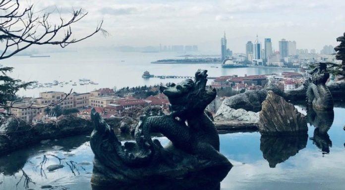 Blick aus Qingdao