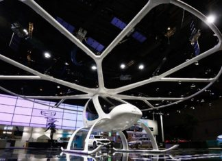 Volocopter-Premiere am Geely-Stand in China